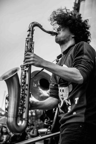Jazz Festival saxophonist