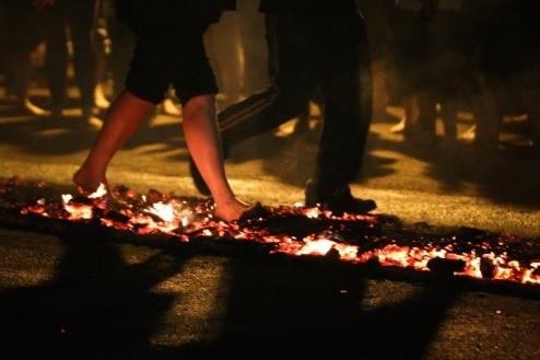 Person firewalking