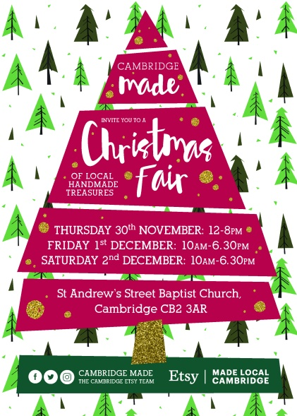 Cambridge Made Christmas Fair_Etsy Made Local 2017 Flyer