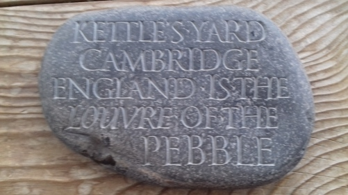 Kettles Yard carved stone