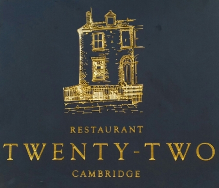 Restaurant Twenty-Two sign