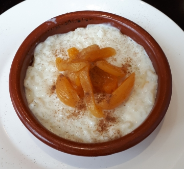 Tu Casa Tapas rice pudding