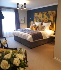 Rose bedroom at Gresham House Wellness Cambridge