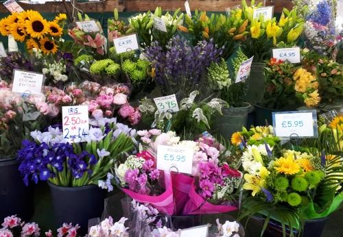 Flowers at Cambridge Market