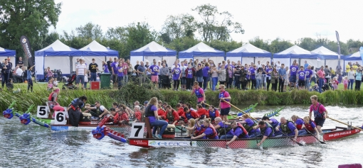 Dragon boats on the Cam