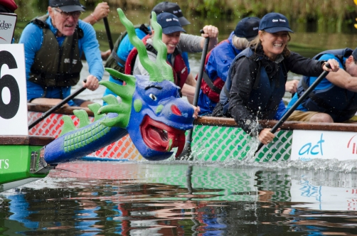 Dragon boat racing on the Cam
