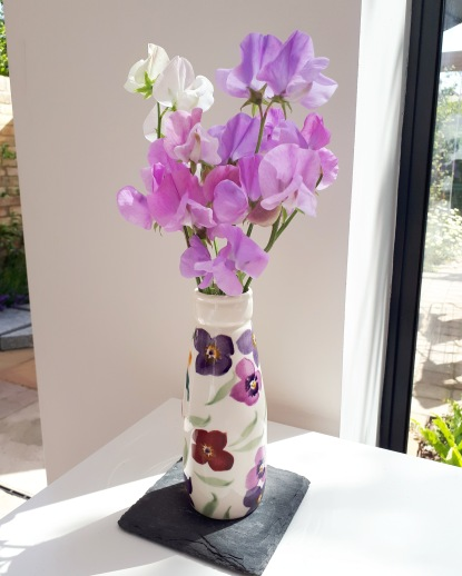Sweet peas on my desk